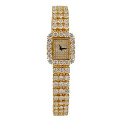 Piaget 18 Karat Yellow Gold Diamond Ladies Wrist Watch