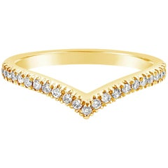 Roman Malakov Diamond Yellow Gold V-Shaped Wedding Band