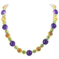 324.13 Carat Multi Color Cabochon Necklace