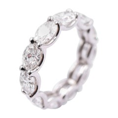 Novel Collection 5.60 Carat Oval East/West Diamond Eternity Band in Platinum