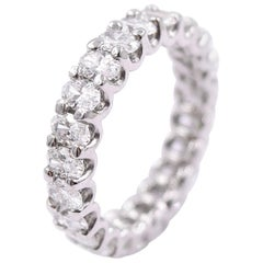 2.62 Carat Oval Diamond Wedding Band in Platinum