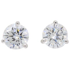 GIA Certified 2.75 Carat Diamond Stud Earrings