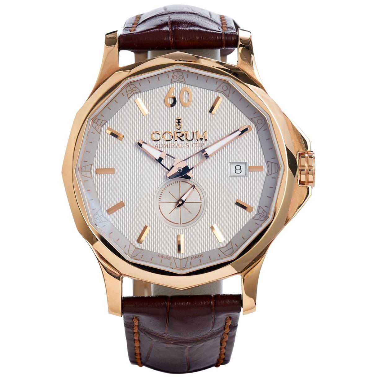 Men's Corum 18 Karat  Rose Gold Admirals Cup 42 Legend Watch