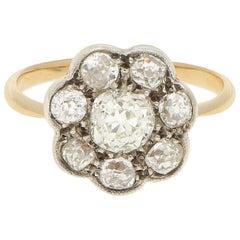 Belle Époque Diamond Coronet Cluster Ring Set in Rose Gold and Platinum