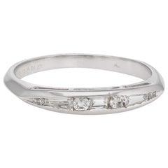 Antique Deco Diamond Ring Mixed Cuts Platinum Vintage Fine Jewelry, Wedding