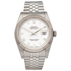 Rolex Datejust 36 Stainless Steel and 18K White Gold 16234 Wristwatch
