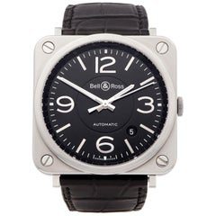 Bell and Ross  BRS-92 Stainless Steel BRS-92-BL-ST/SCR