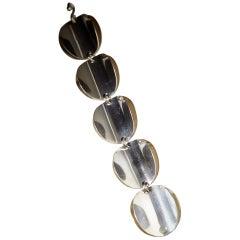 1960s Sterling Silver Scandinavian Modern Bracelet by Tone Vigeland, Norway