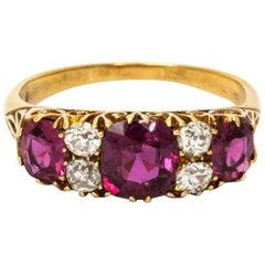 Edwardian Ruby 18 Carat Gold Ring