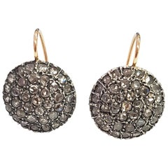 2.60 Carat White Diamond Circle Earrings