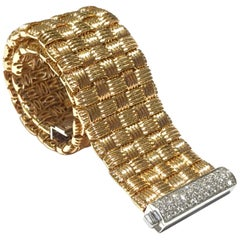 Roberto Coin La Magnifica Bracelet in 18 Karat P/G 0.38 Carat Diamonds