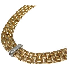 Roberto Coin Appassionata like Brilliant 3-Row Necklace with 0.22 Carat Diamonds