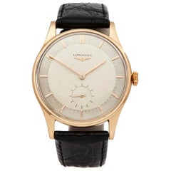 Longines Vintage 18K Rose Gold CAL.27M Wristwatch