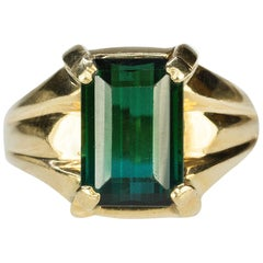Heavy Gold Tourmaline Ring