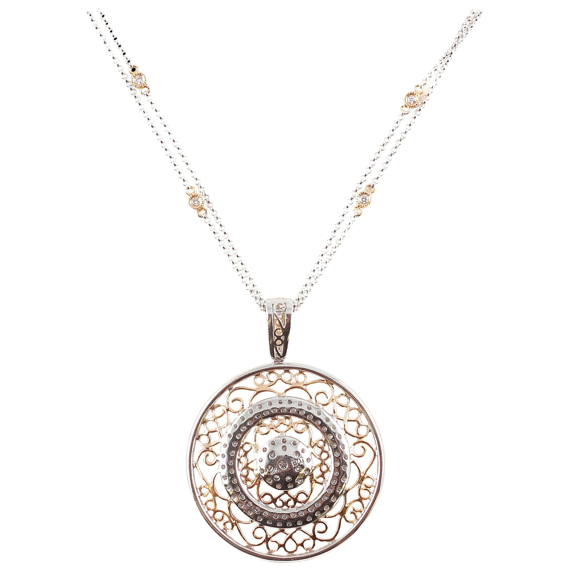 """Trident"" 2.30 Carat Diamond Necklace"