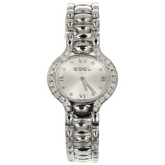 Ebel Beluga Ladies Stainless Diamond Bezel Dial Wristwatch