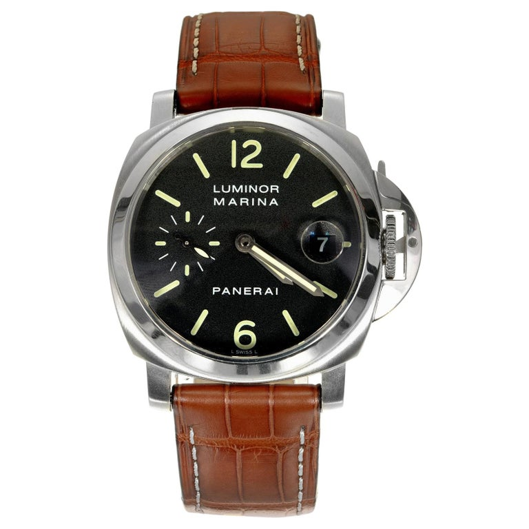 Panerai Men's Automatic Luminore Marina Pam Wristwatch Ref Pam00048 For Sale