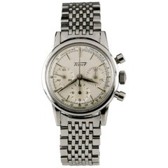 Tissot Chronograph MVMT 1281 Vintage Stainless Steel Men's Watch with Subdials