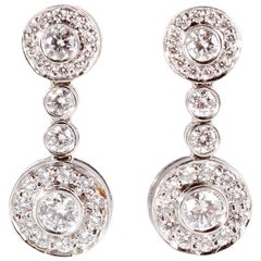 "Tiffany & Co. Diamond Earrings ""Circlet Collection"""