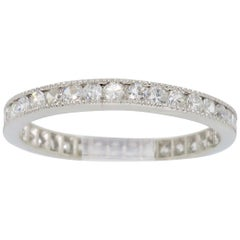 Platinum Milgrain Diamond Eternity Band