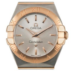 Omega Ladies Constellation 18 Karat Rose Gold and Stainless Steel Quartz Watch