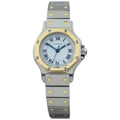 Cartier Ladies Octagon Santos Two-Tone Stainless Steel/18k Gold Automatic Watch