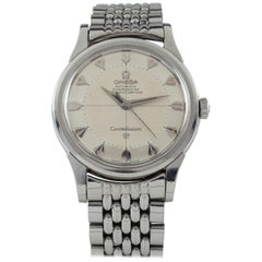 Omega Vintage Constellation Pie Pan Stainless Steel Watch #551 #14381