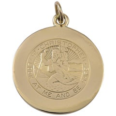 Cartier St. Christopher's Gold Medal