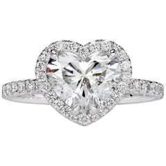 Mark Broumand 2.51 Carat Heart Shaped Diamond Engagement Ring