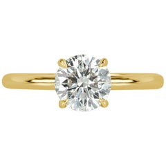 Mark Broumand 1.13 Carat Old European Cut Diamond Engagement Ring