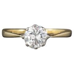Antique Victorian Diamond Solitaire Engagement Ring 18 Carat Gold, circa 1900