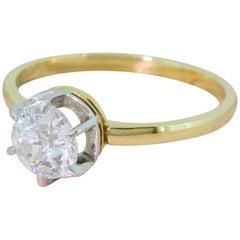 Art Deco 0.80 Carat Old Cut Diamond Engagement Ring