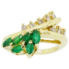 Vintage Le Vian Diamond and Emerald Ring