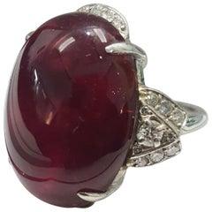 GIA Certified 40.49 Carat Rubelite Diamond Cocktail Ring