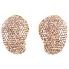 Yvel 5.84 Carat Champagne Diamond Earrings