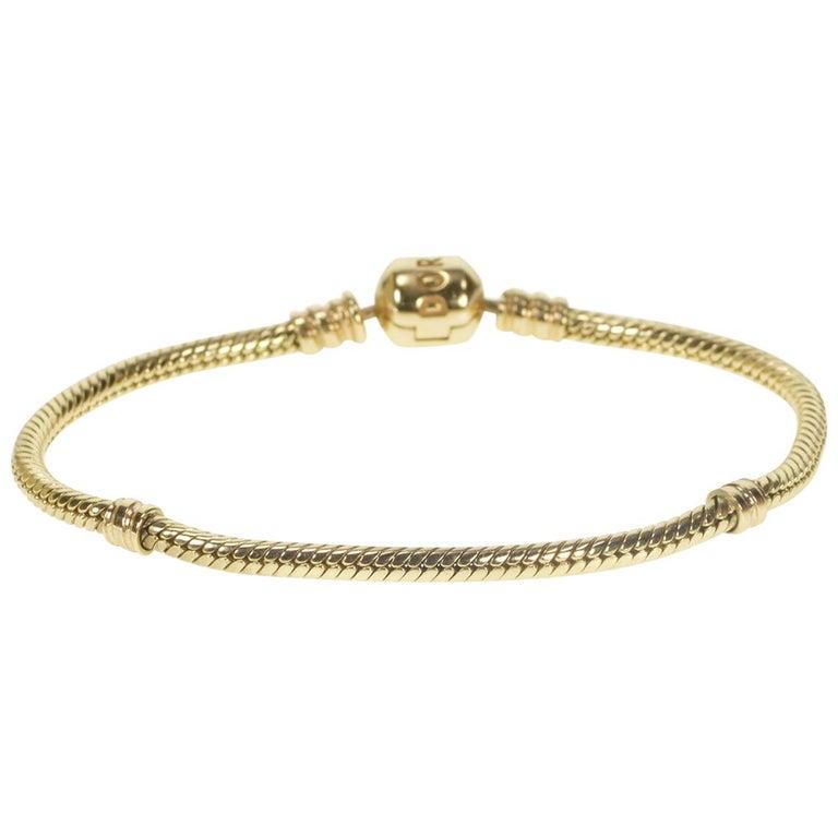 ae5968f18d6 Pandora Moments Gold Clasp Classic Designer Charm Bracelet For Sale ...