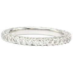 Platin, 1.5 Karat Diamant Eternity Band
