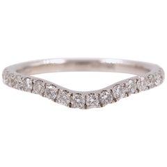 72ebf3fa5 Neil Lane Curved Contoured Diamond Wedding Band Ring 1/3 TCW 14 Karat White  Gold