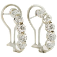 1.8 Carat Diamond 14 Karat White Gold Earrings
