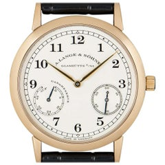 A.Lange & Sohne 1815 Up and Down Rose Gold Silver Dial 221.032 Manual Wind Watch