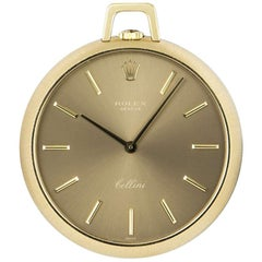 Rolex Cellini Pocket Watch Yellow Gold Bronze Dial 3718 Manual Wind Pocket Watch