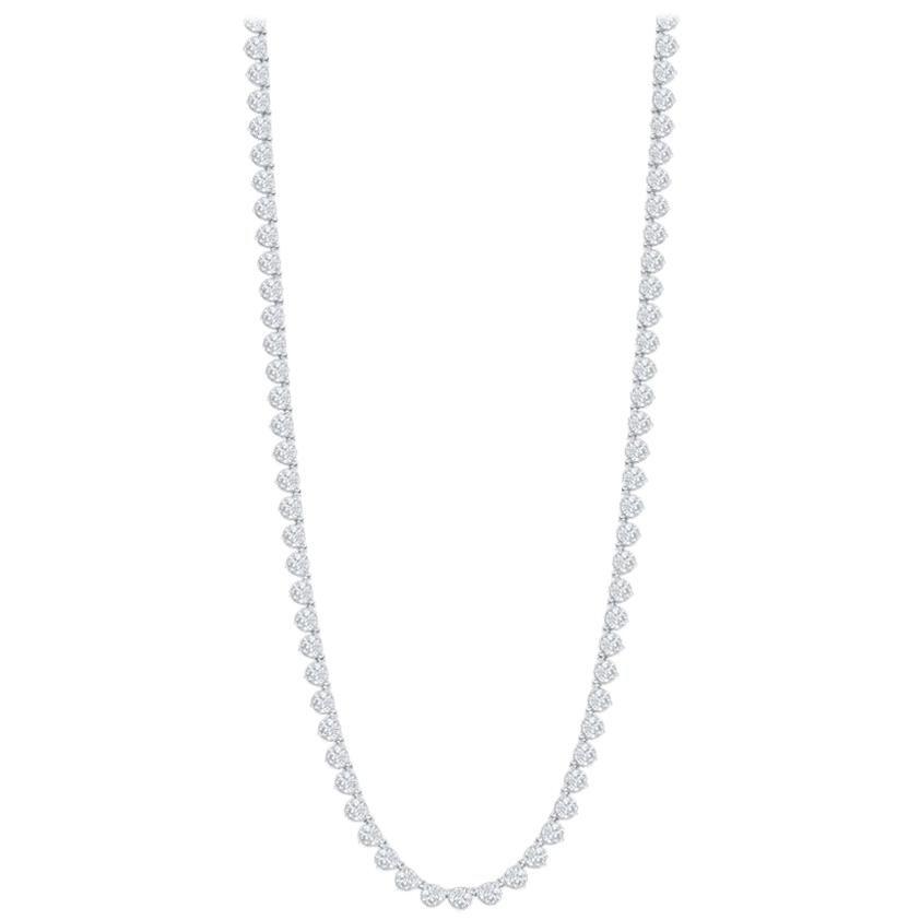 Opera Tennis Necklace 12 Carat