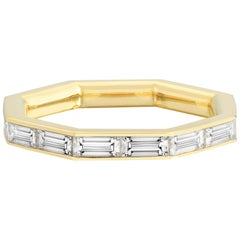 1.84 Carat Baguette Octagon Eternity Ring
