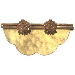 Unique Art Deco Yellow Gold Jean Despres Brooch Broche Jean Desprès or 18 Karat