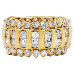 Yellow Gold Fashion Diamond Ring Featuring 1.30 Carat of Diamonds