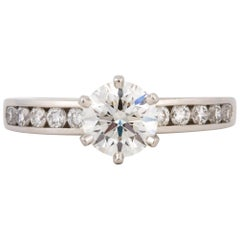Tiffany & Co. Platinum Diamond Solitaire Ring