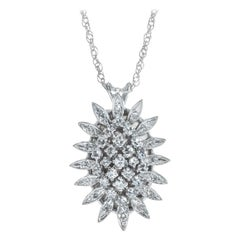 .62 Carat Diamond White Gold Pineapple Design Pendant Necklace