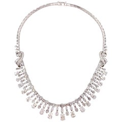 Platinum and Diamond Necklace Approximately 43 Carat Total Weight, circa 1950