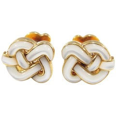 Angela Cummings Cufflinks Mother of Pearl Yellow Gold 18 Karat