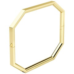 18 Karat Gold Octagon Bangle